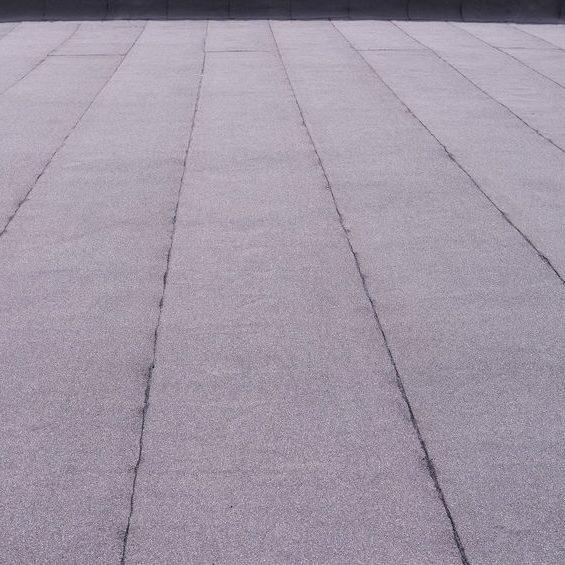 black flat roof
