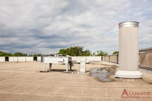 chimney on a flat roof