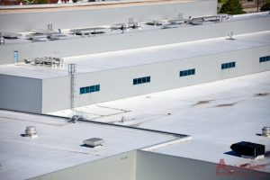 white flat commercial roof