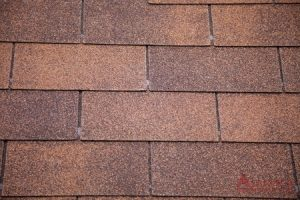 close up of composition shingles
