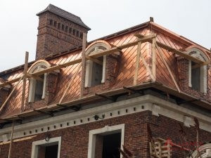 copper roof on old historic building