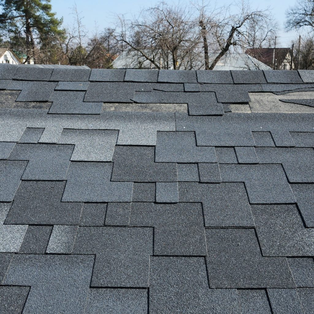 roof shingle damage on a roof