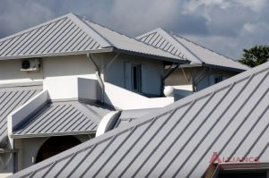 gray metal residential roof
