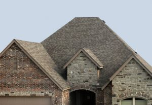 New Asphalt Shingles On a House