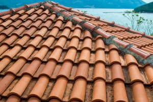 Spanish Tile Roof on a Lake