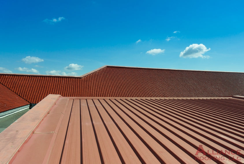 brown standing seam roof