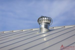 steel roof with vent