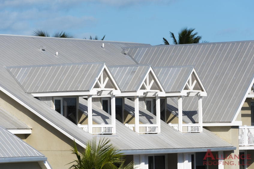 steel roof on coastal apartment complex